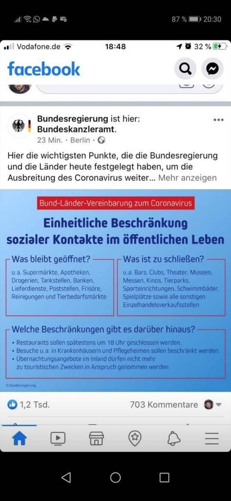 Deutschland März 2020